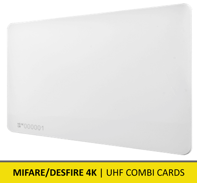 9206388 | NEDAP | UHF Combi Cards Mifare/DESfire 4K | Pack of 25